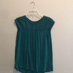 Merona Short Sleeve Green Top